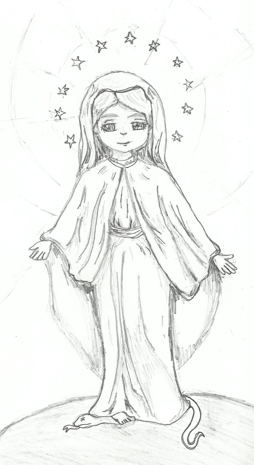 867x1588 Young Mother Mary By Cosmicriver30