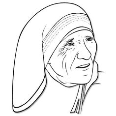 Mother Teresa Drawing at GetDrawings.com | Free for personal use ...