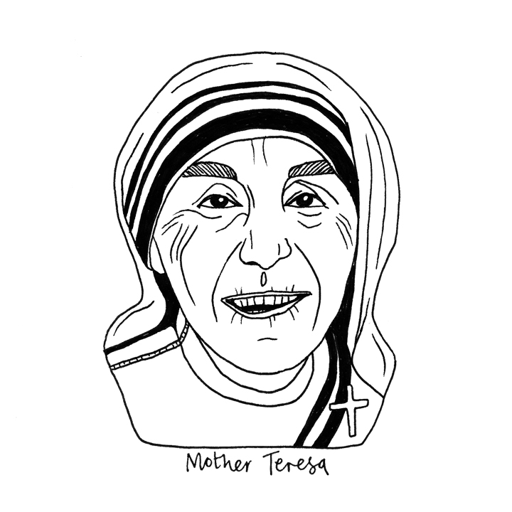 photograph regarding Mother Teresa Do It Anyway Free Printable referred to as Mom Teresa Drawing at  Absolutely free for specific