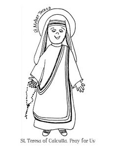 photograph relating to Mother Teresa Do It Anyway Free Printable titled The easiest cost-free Teresa drawing pics. Down load versus 77 no cost