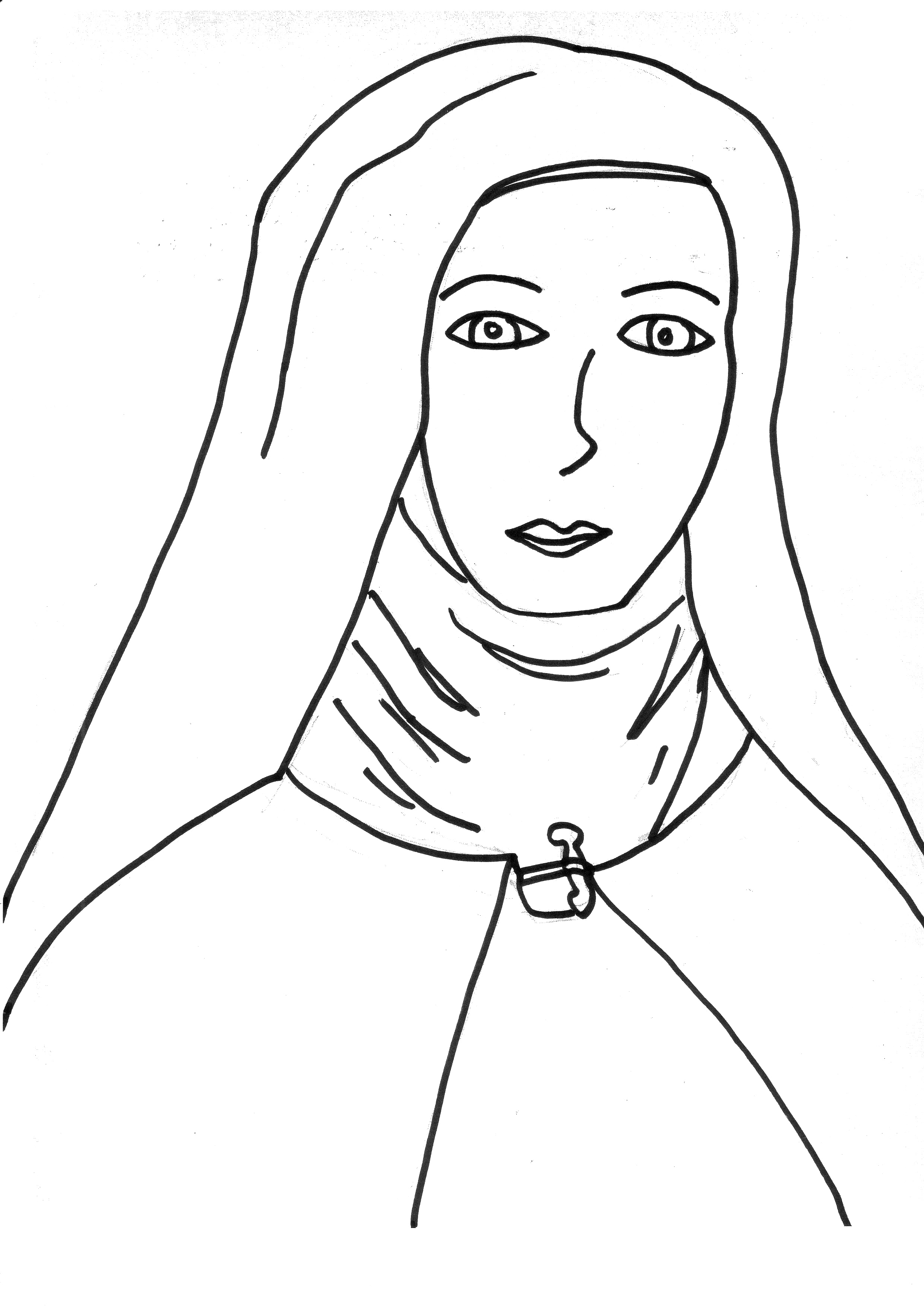 graphic about Mother Teresa Do It Anyway Free Printable called Mom Teresa Drawing at  Cost-free for individual
