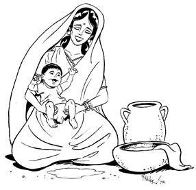 286x277 Indian Mother With Baby Drawing Free Clip Arts Sanyangfrp