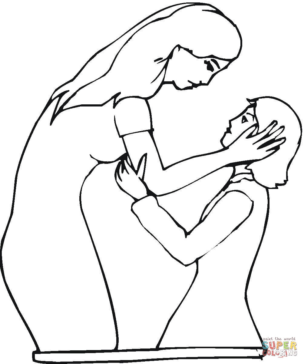 1004x1200 Mom And Baby Coloring Pages