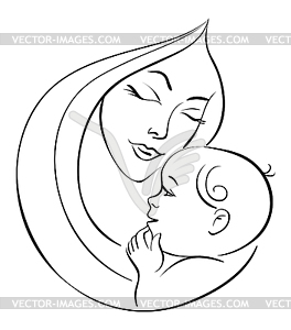 264x300 Mother And Baby Clipart Baby Drawing
