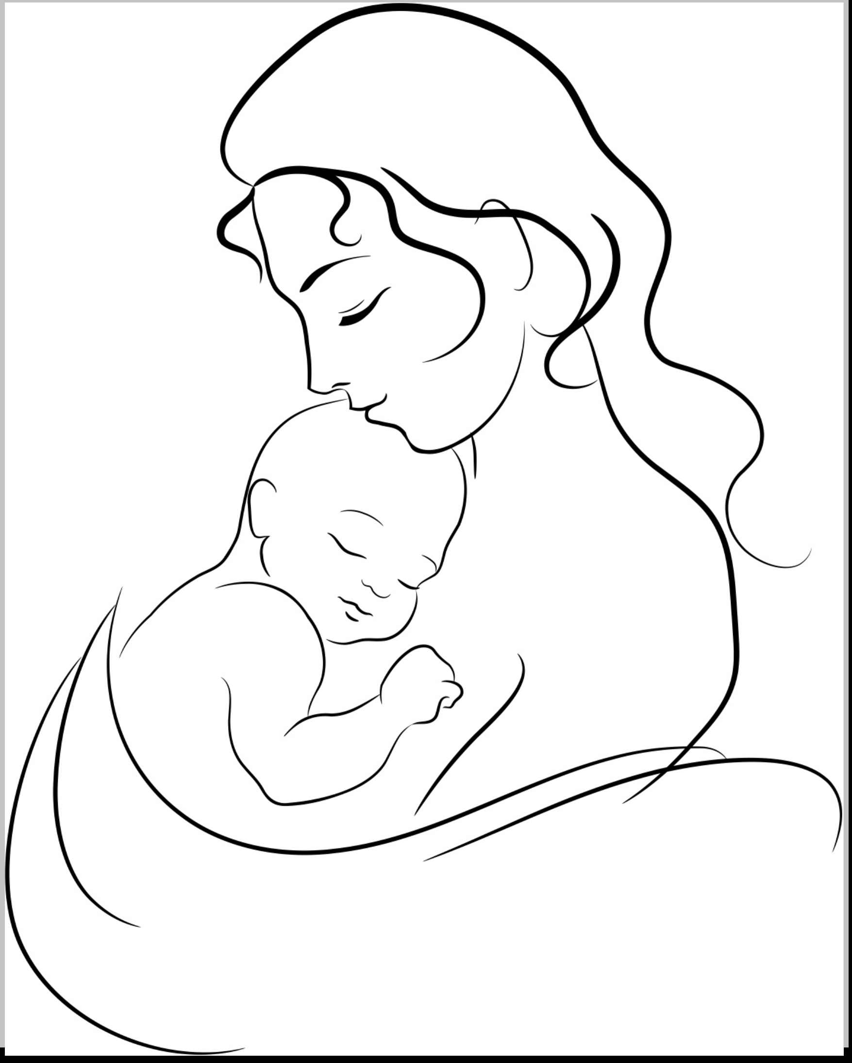 1755x2190 Mother And Child Drawing Collection