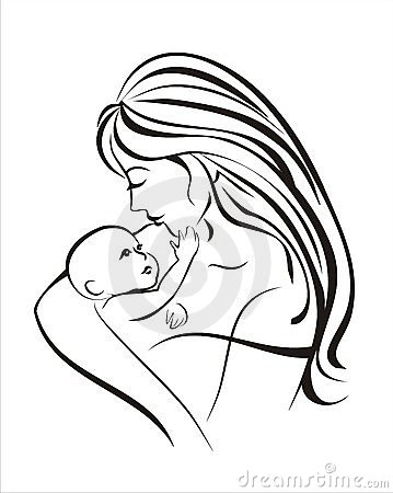 359x450 Pictures Drawing Of Mother And Child,