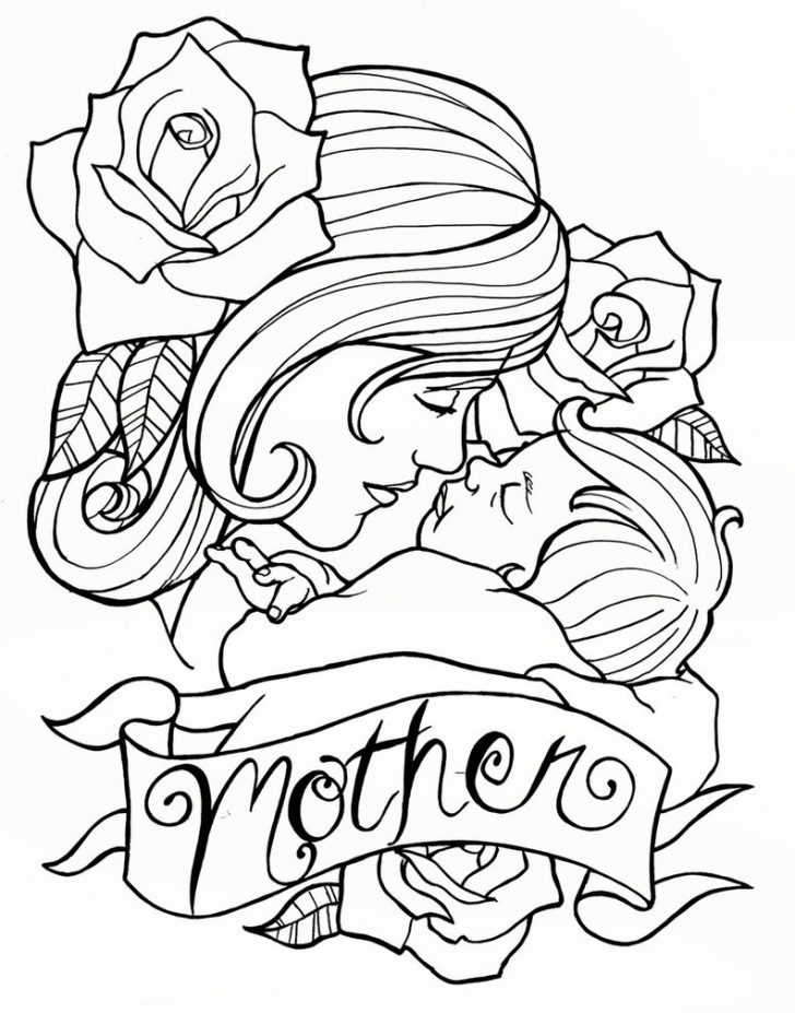728x927 Uncategorized ~ Mother Day Drawing Ideasmothers Drawings And Baby