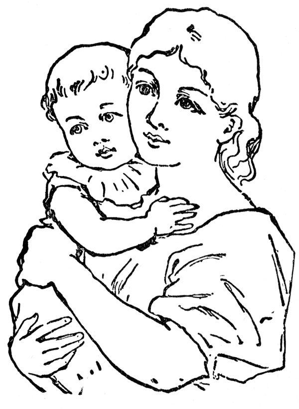 600x820 Clipart Mother Outline