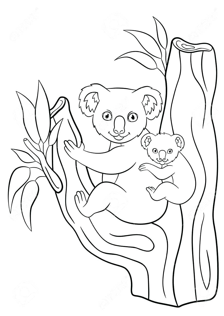 919x1300 Coloring Mother Coloring Pages Seal With Her Little Cute Baby