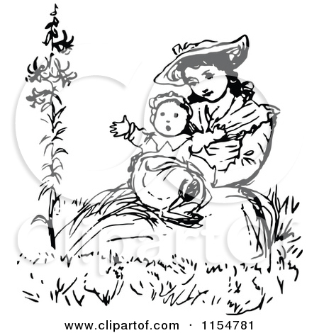 450x470 Mother Rushing With Baby Clipart