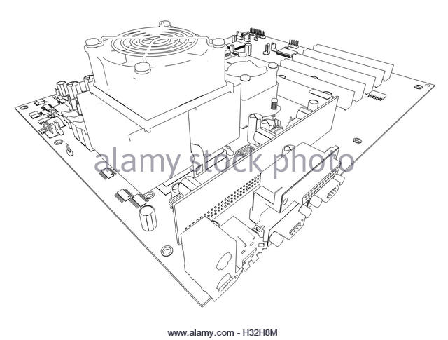 640x485 Sketch Motherboard Stock Photos Amp Sketch Motherboard Stock Images