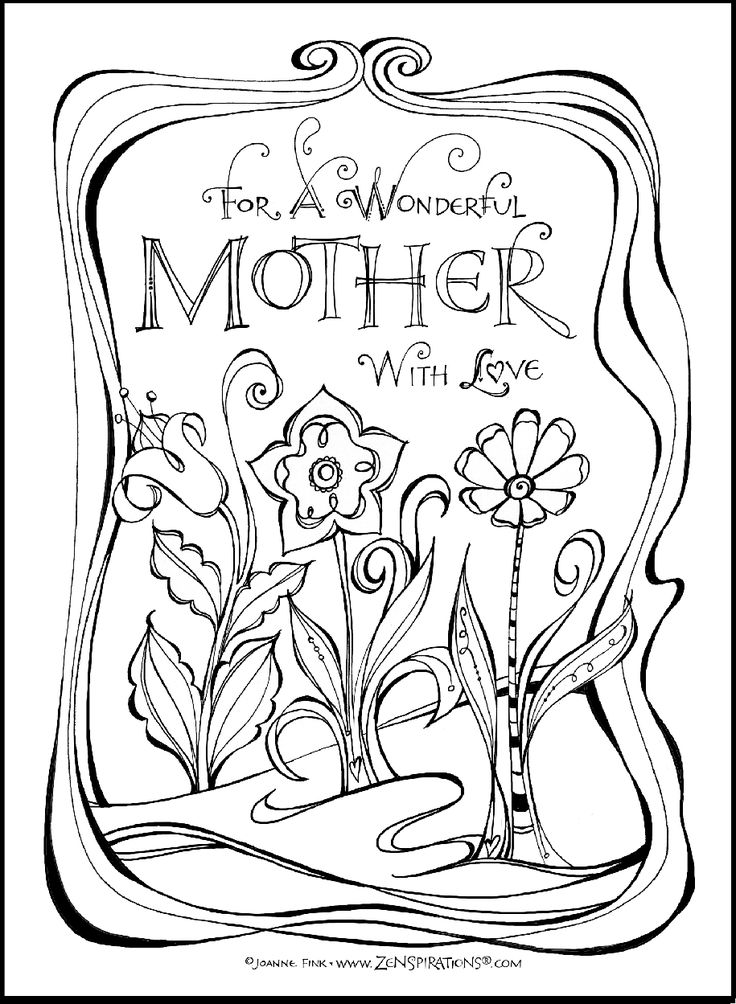 Mothers Day Card Drawing