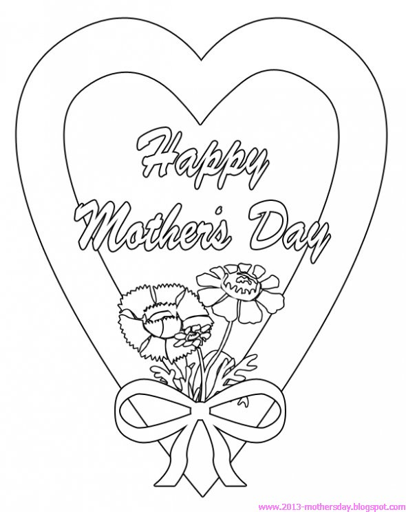 590x744 Happy Mothers Day Coloring Pages For Kids ~ Happy Mothers Day 2016