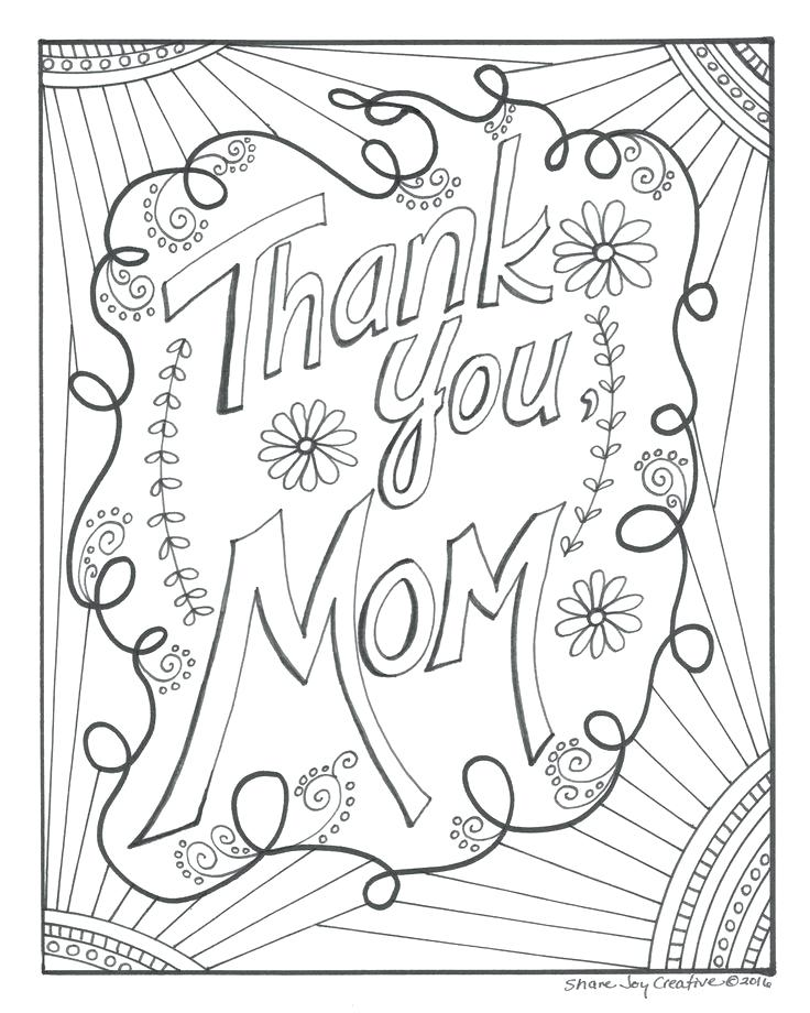 736x920 Coloring Pages For Kids Free Thank You Best Of Cards Drawing