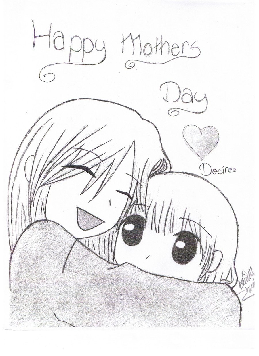 900x1238 Mothers Day Card By Goth Panda