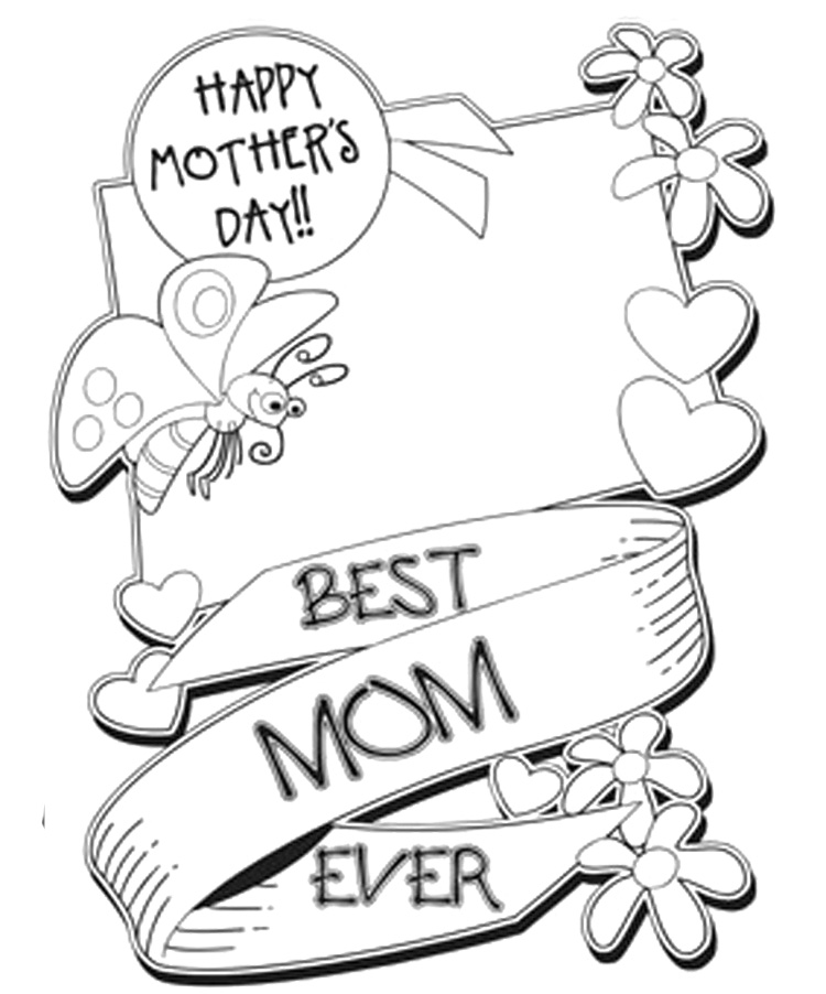 750x902 Mothers Day Coloring Pages For Kids Printable To Good Page Draw