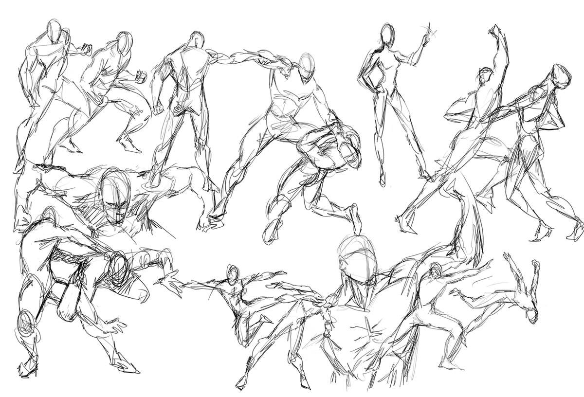 1200x816 Drawing People In Motion People In Motion