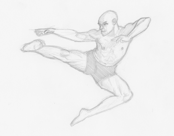 581x457 30 Days Of Draw Day 3 A Figure In Motion 30 Day Thing