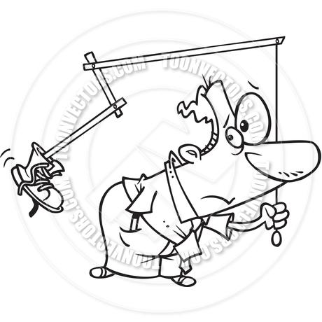 460x460 Cartoon Self Motivation (Black And White Line Art) By Ron Leishman