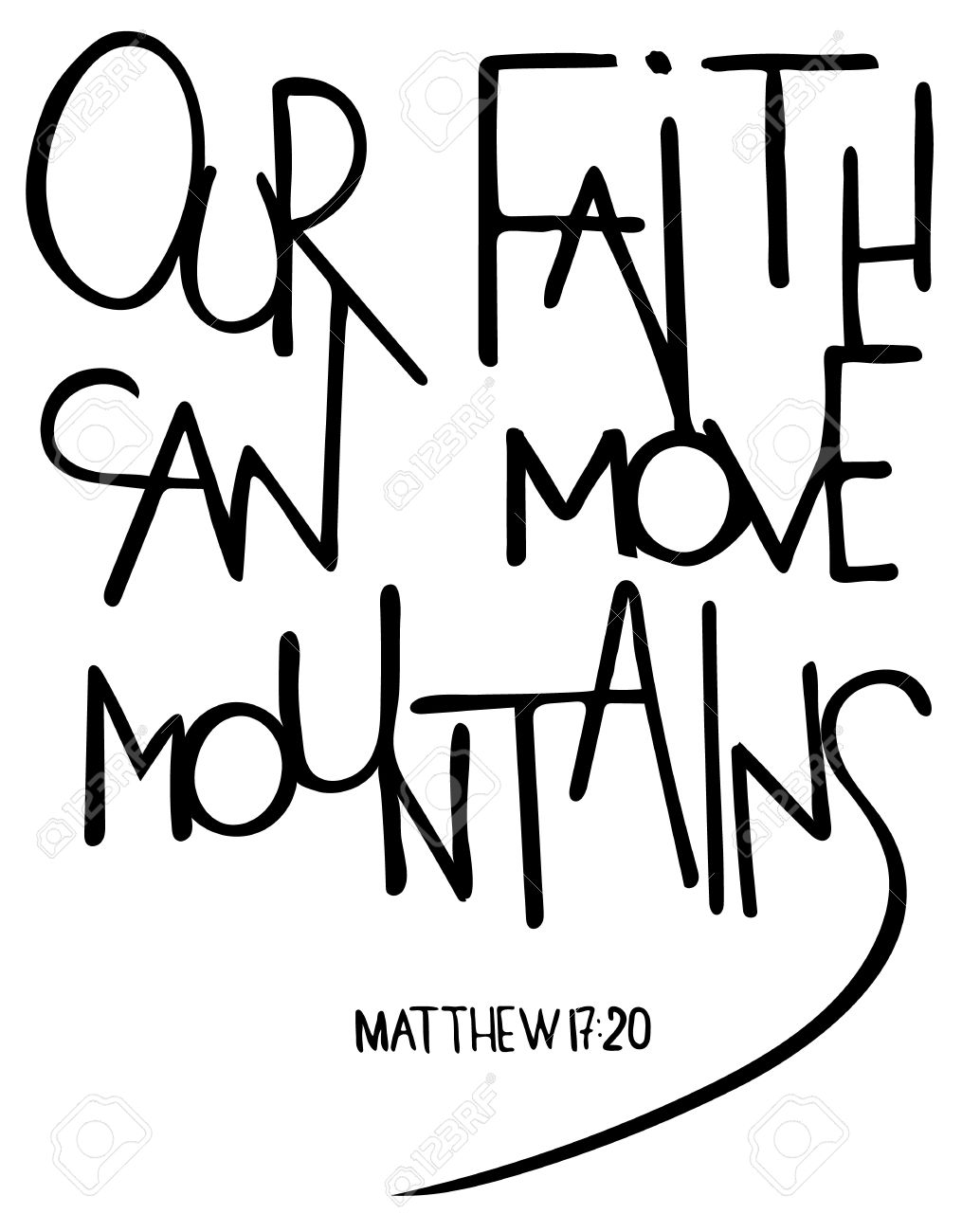 1015x1300 Our Faith Can Move Mountains. Inspirational And Motivational Quote