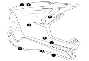 Motocross Helmet Drawing