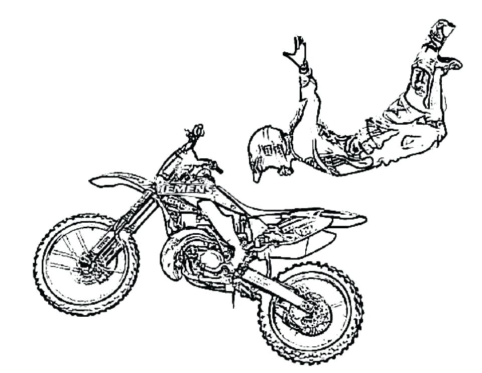 960x742 Dirt Bike Coloring Page Awesome Dirt Bike Coloring Page Dirt Bike