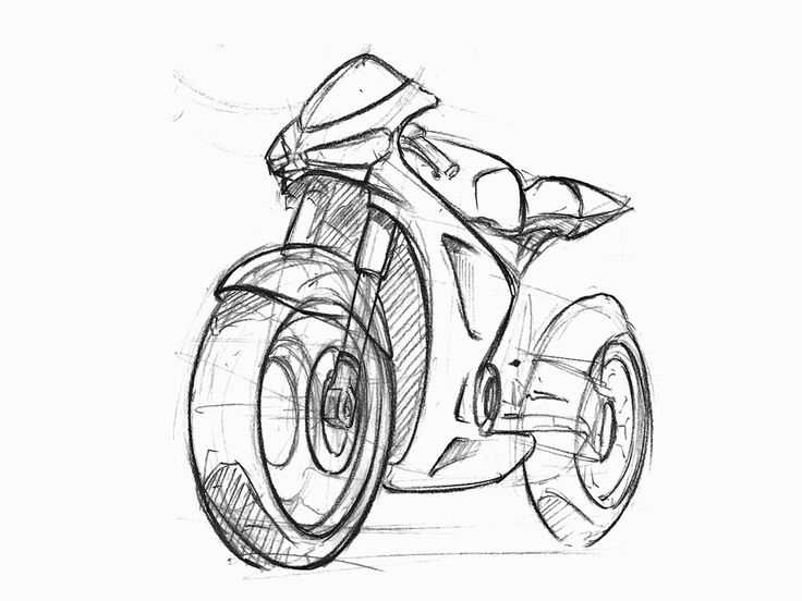 Motor Bike Drawing