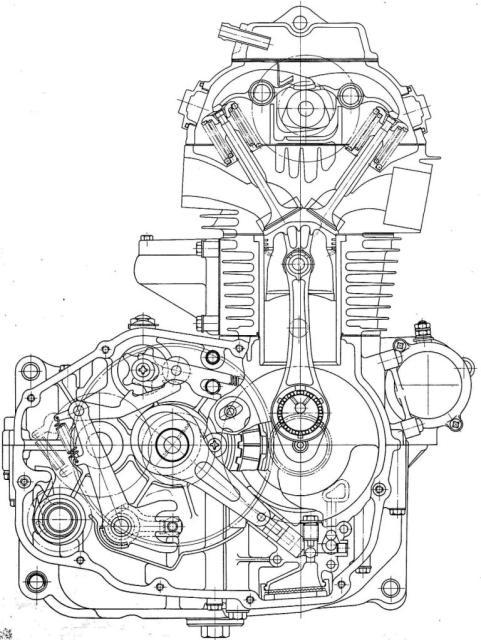 Motor Drawing on Vtec Engine Drawing