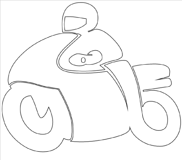 Motorbike Drawing Outline At Getdrawings Com Free For Personal Use
