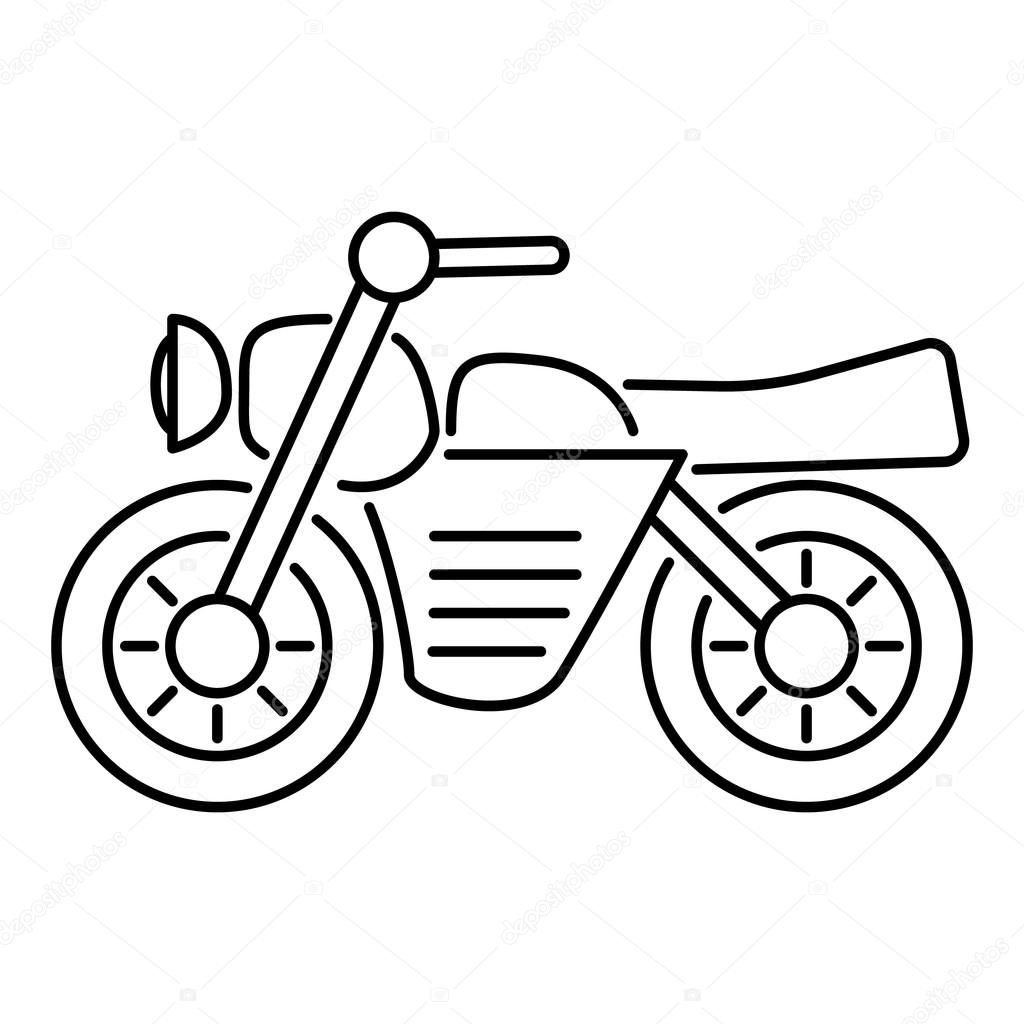 1024x1024 Motorcycle Icon, Outline Style Stock Vector Ylivdesign