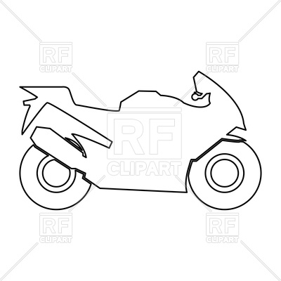 400x400 Motorcycle Outline Royalty Free Vector Clip Art Image