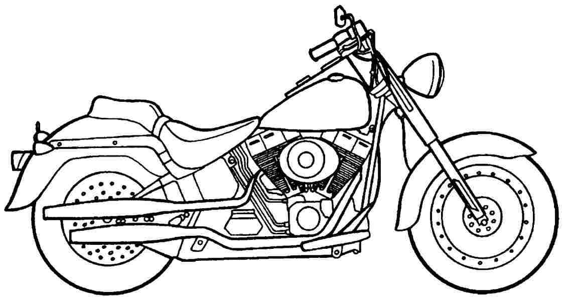 1124x600 Coloring Pages Of Motorcycle Harley Davidson Coloring Page For Kids