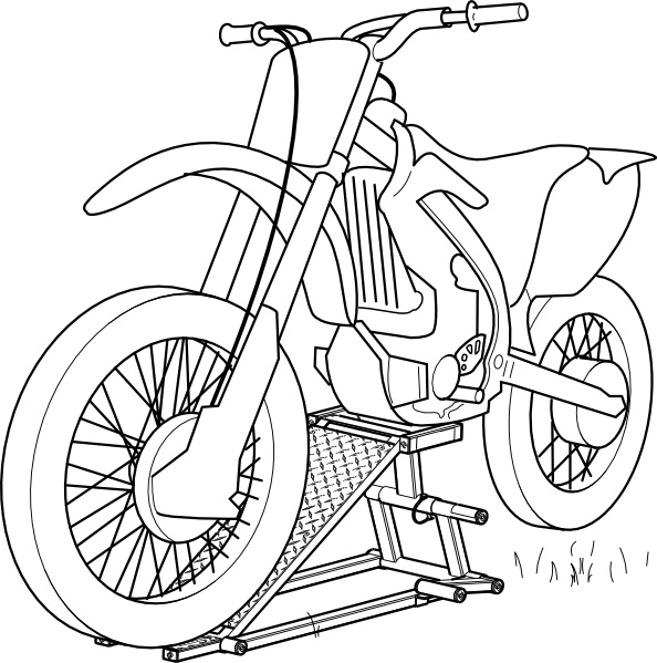 594x599 Outline Motorcycle Lift Clip Art Free Vector In Open Office