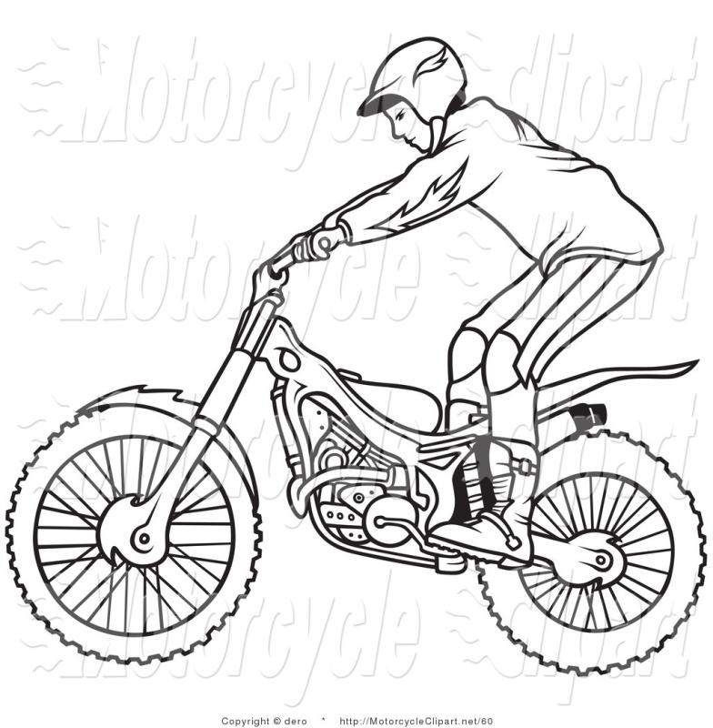 784x800 Motorcycle Outline Clip Art