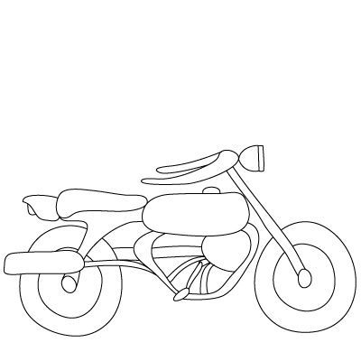 400x400 Easy Way To Draw A Motorcycle