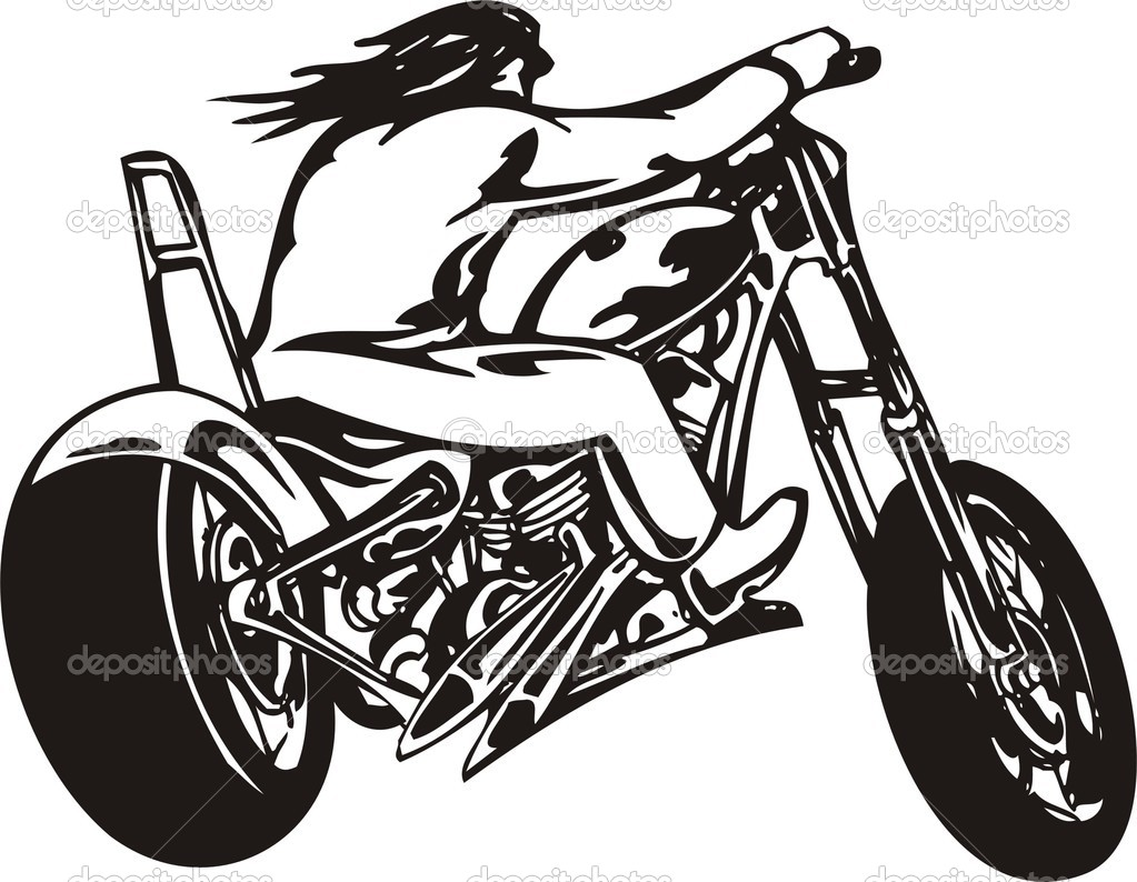1023x794 Harley Motorcycle Clipart Outline