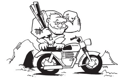 Motorcycle Cartoon Drawing
