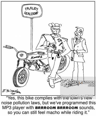 400x481 Motorcycle Dealer Cartoons And Comics