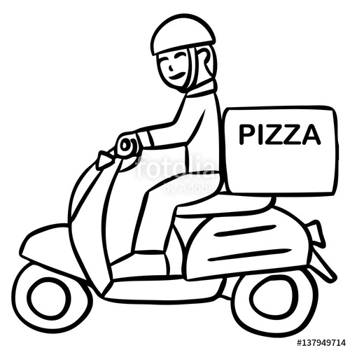 500x500 Cartoon Word Delivery Motorcycle Stock Image And Royalty Free
