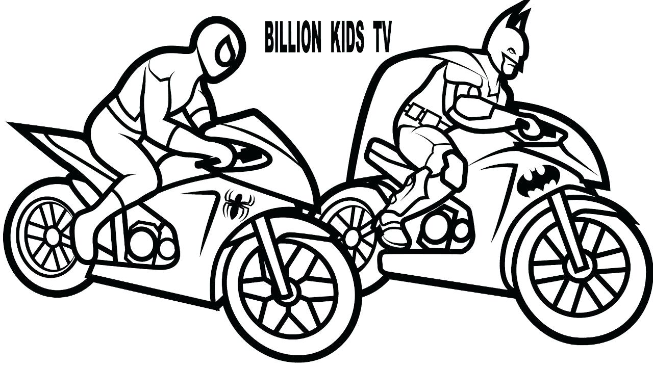 1280x720 Coloring Coloring Pages Of Motorcycles