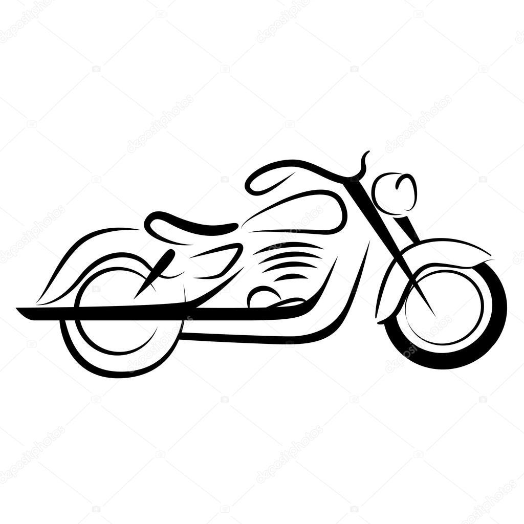 1024x1024 Chopper Motorcycle Stock Vector Bogalo