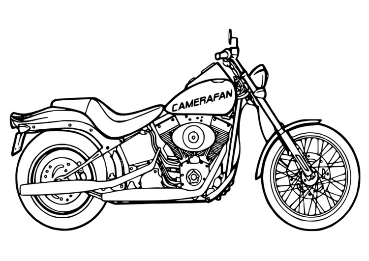 750x531 Coloring Page Motorcycle