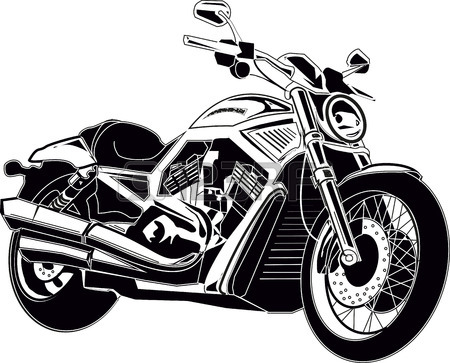450x363 Motorcycle Chopper Royalty Free Cliparts, Vectors, And Stock