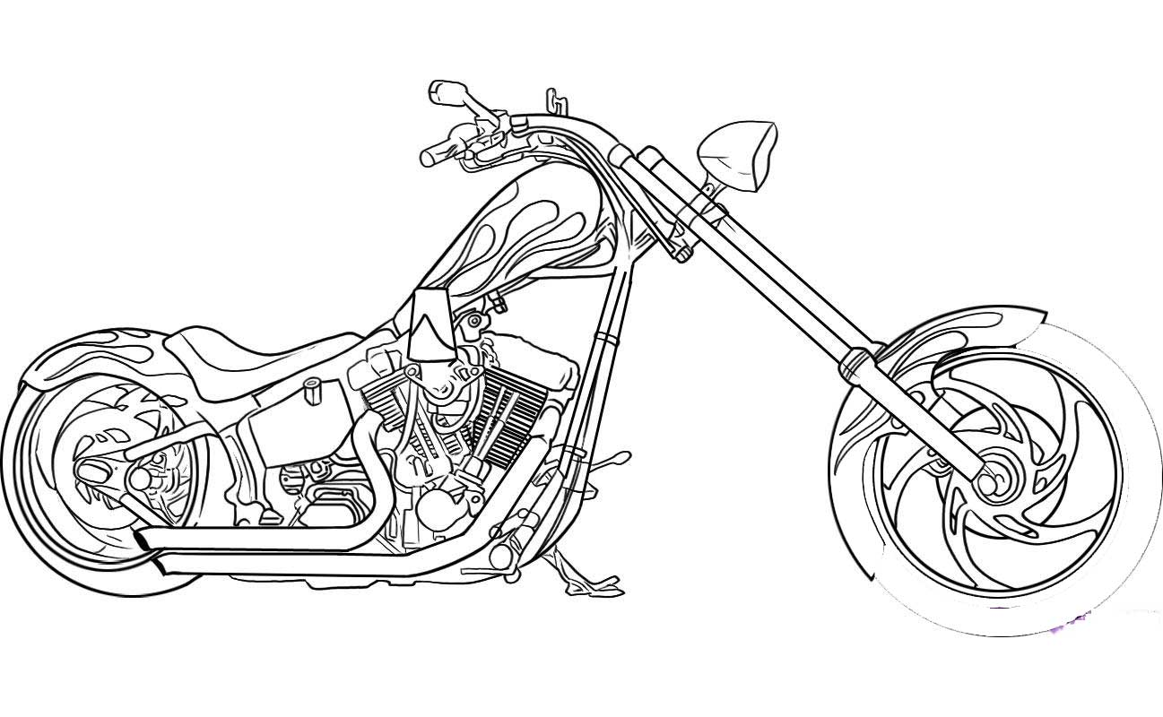 1297x800 Printable Motorcycle Coloring Pages For Preschoolers