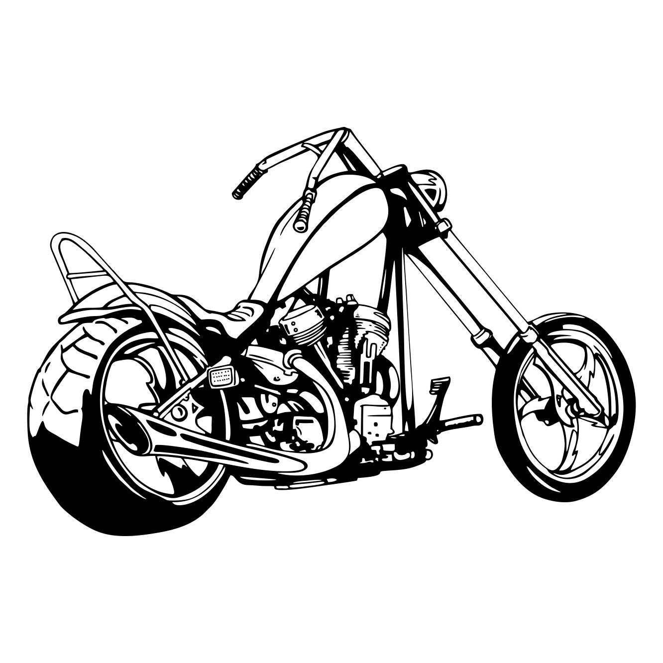 1332x1332 Chopper Motorcycle 2 Graphics Svg Dxf Eps Png Cdr Ai Pdf Vector