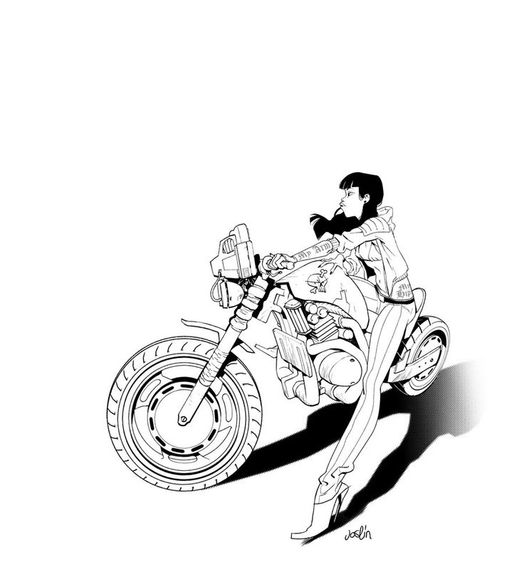 Motorcycle Design Drawing