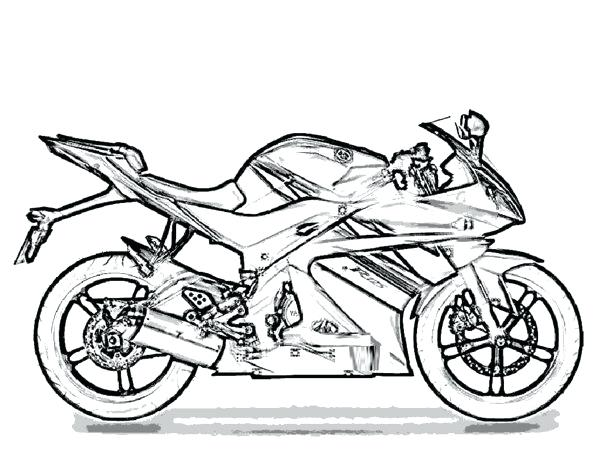 600x464 Coloring Pages Of Motorcycles Trail Race Motorcycle Race Coloring