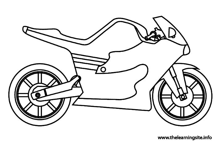 720x480 Printable Motorcycles Page For Kids Free Coloring Book Picture