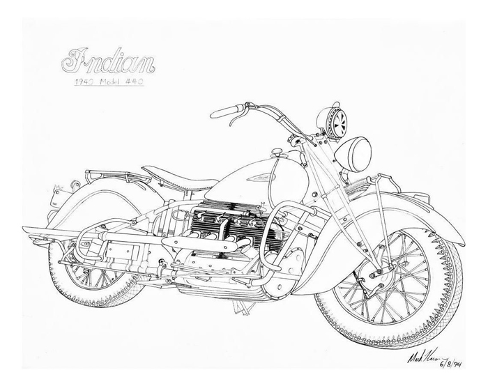 Motorcycle Drawing Images