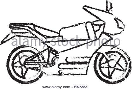 450x309 Motorcycle Sketch. Vector Stock Vector Art Amp Illustration, Vector